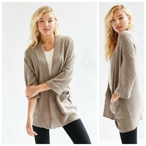 UO Silence + Noise Brown Claire Cardigan Sz Small